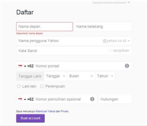 cara membuat akun yahoo yang baru cara membuat email di yahoo