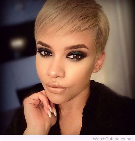 hairstyles for blonde hair and brown eyes short blonde hair and black eye makeup for brown eyes