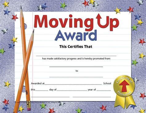 moving up certificate templates moving up award h va518