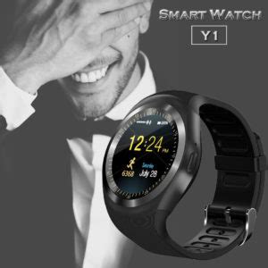 Smartwatch Y1 waterproof bluetooth smart phone mate for android ios iphone samsung lg affiliate