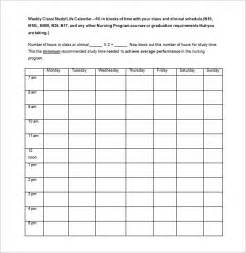 template for a schedule college class schedule template 4 free word excel pdf