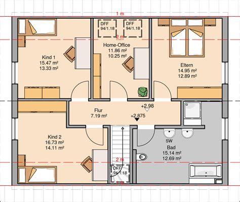 1 schlafzimmer grundrisse kern haus familienhaus signum grundriss dachgeschoss