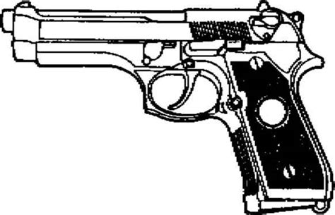 9mm Drawing by Parts Of A Semi Automatic Pistol Beretta 92f 9mm Semi