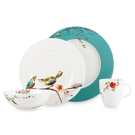 dishes bed bath and beyond simply fine lenox 174 chirp dinnerware collection bed bath