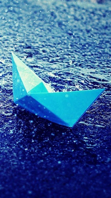paper boat  rain iphone  wallpaper hd
