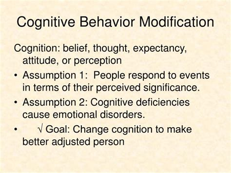 Behavior Modification Therapy by Ppt Principles Of Behavior Modification Psy333