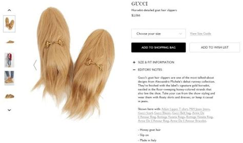 What Type Of Shoo Is For Hair by You Can Now Buy These Gucci Goat Hair Slippers