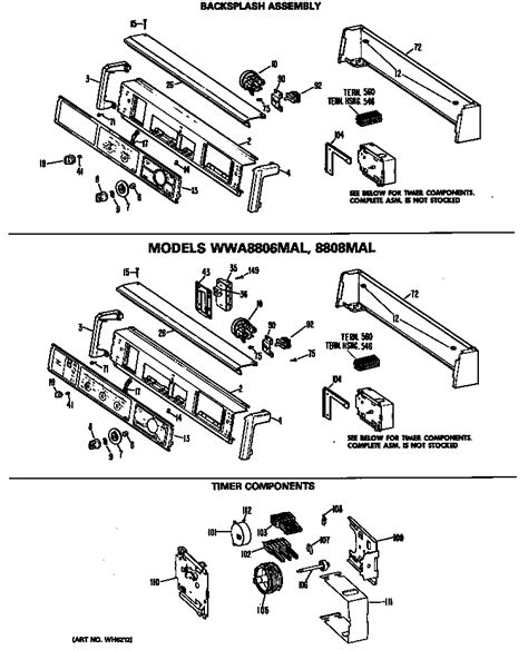 ge washer parts diagram ge washer parts model wwa8608mal sears partsdirect