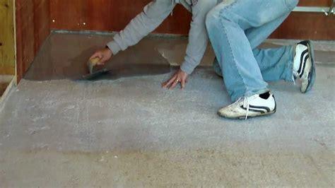 leveling garage floor