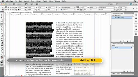 Indesign Spreadsheet by How To Create Indesign Paragraph Styles Lynda