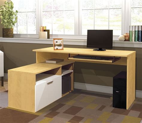 white office desk with drawers yellow l shaped computer desk ikea with exclusive white