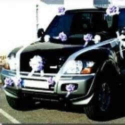 deco voiture mariage noeud tulle ruban
