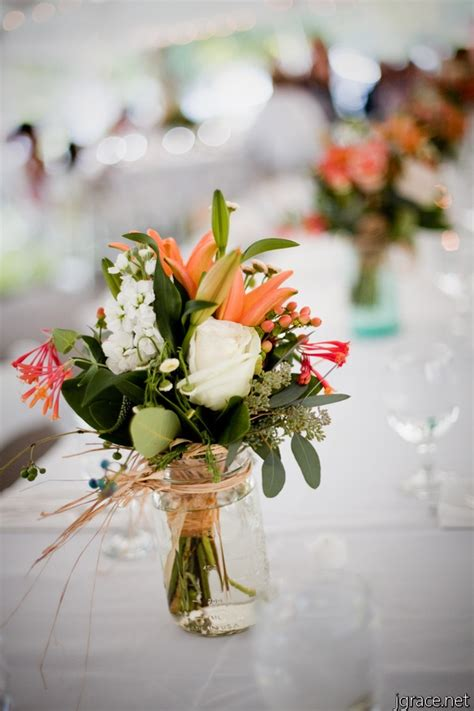 wedding centerpieces mason jars flowers google search