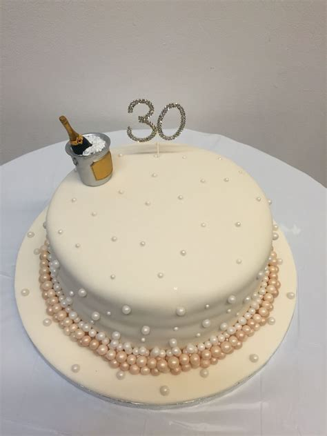 30th (pearl) wedding anniversary cake   lemon cake with