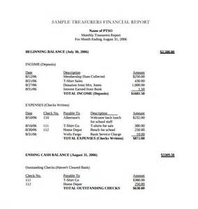 treasurer s report agm template treasurer report templates 13 free word pdf documents