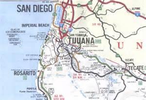tijuana baja california map area map for tijuana a border city of baja mexico