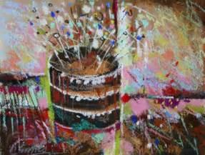 birthday painting birthday with chocolate cake original painting by