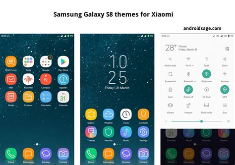 xiaomi themes store 4 awesome samsung galaxy s8 plus themes for xiaomi on
