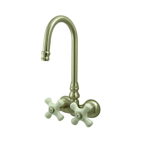 bathtub wall faucets shop elements of design hot springs satin nickel 2 handle