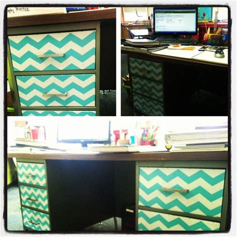 contact paper desk makeover my boring metal desk makeover with tj maxx contact paper