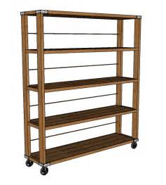 build wooden rolling shelf plans plans rocking