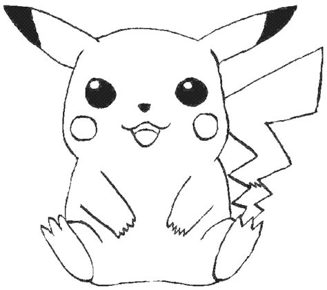 free coloring pages of baby pikachu