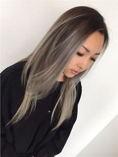 japanesse women with grey hair best 25 asian balayage ideas on pinterest