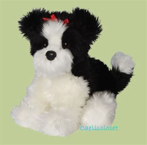 black shih tzu stuffed animal tingle shih tzu 12 by douglas cuddle toys white dogs toys and black white