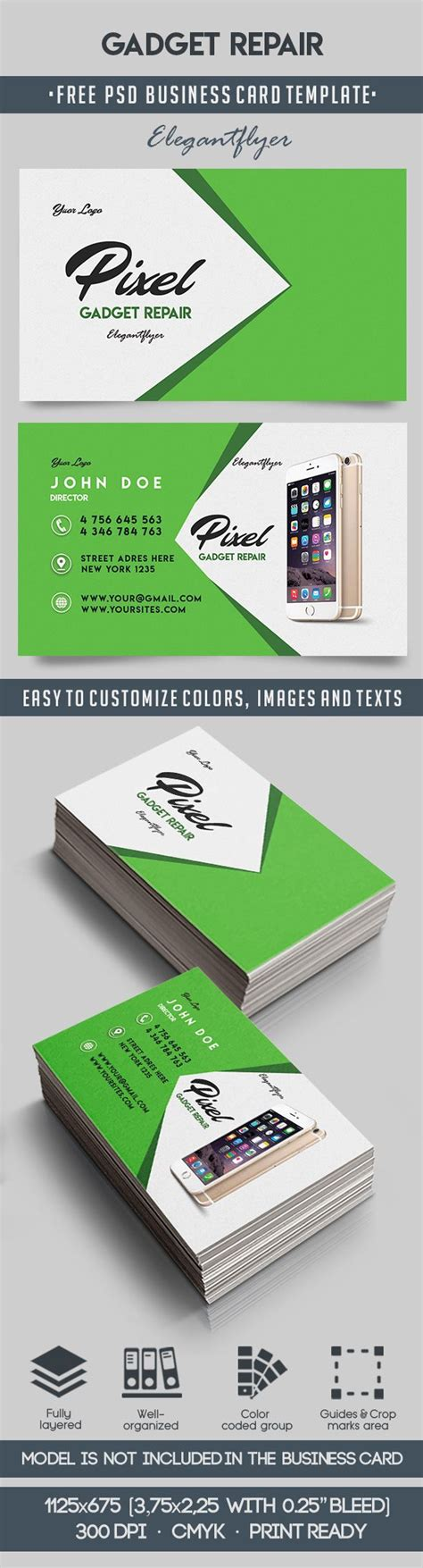 Business Card 8 Sheet Printing Template Psd by Gadget Repair Free Business Card Templates Psd By