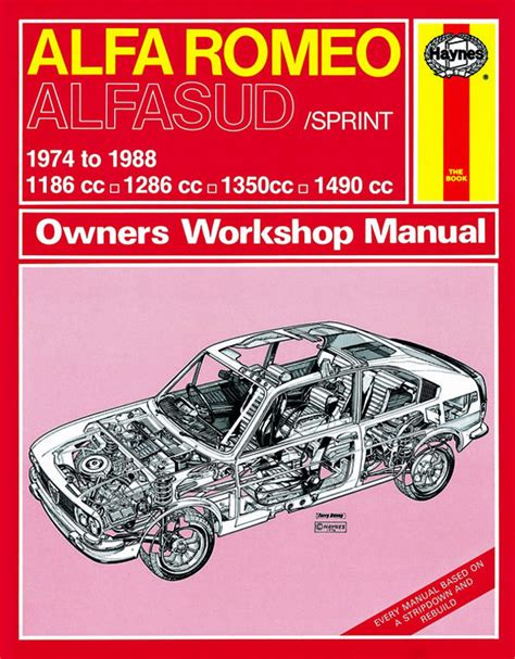 haynes manual alfa romeo alfasud repair book