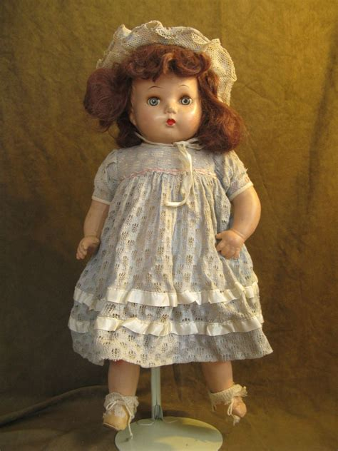 what is a composition doll horsman composition doll 20 quot brown mohair original dress