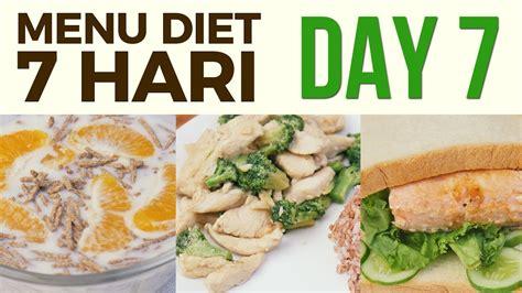 menu diet sehat seminggu  menurunkan berat badan