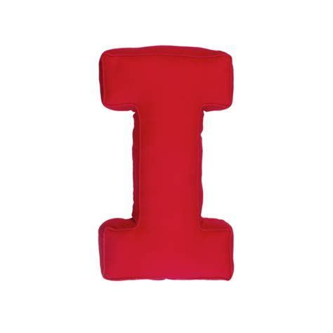 a i fabric letter i red