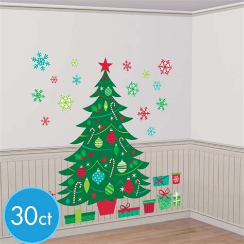 christmas tree wall decals 30pc