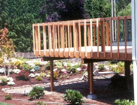 composite deck build railing composite deck