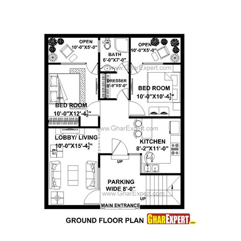 home design for 900 sq plot house plan for 28 by 35 plot plot size 109 square yards gharexpert