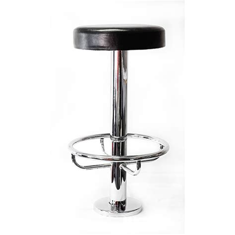 fixed bar stool floor fixed chrome high bar stool with footring jb