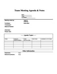 team meeting agenda and notes free download