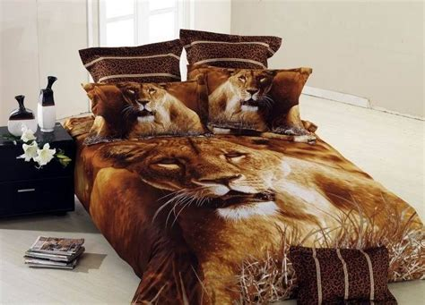 lion comforter set brown lion animal print comforter bedding set queen size