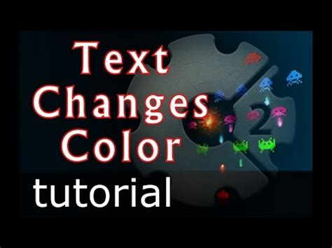 Construct 2 Text Tutorial | scirra construct 2 tutorial text change random color