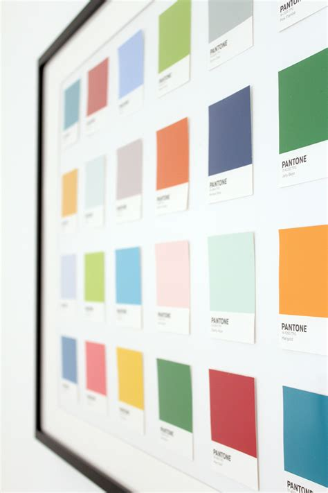 diy pantone wall the crafty gentleman