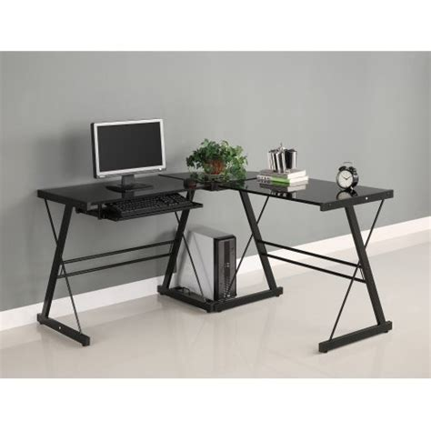Walker Edison Soreno 3 Piece Corner Desk Black With Black Walker Edison 3 Contemporary Desk
