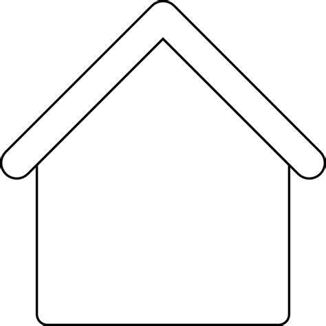 house outline gingerbread house outline clip art at clker com vector