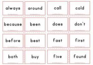 sight words flashcards aussie childcare network