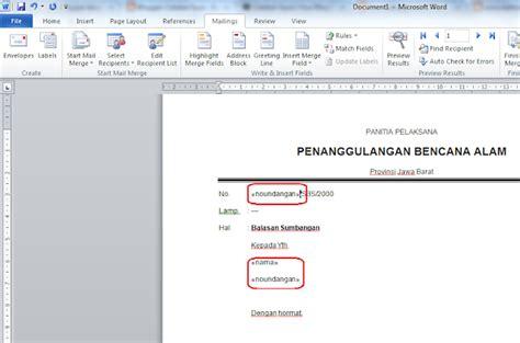 tujuan membuat mail merge cara membuat surat dengan banyak nama dan tujuan dengan