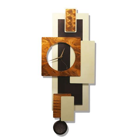 contemporary wall clocks with pendulums