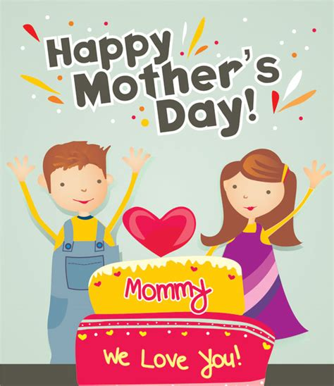 cute mothers day cards happy mother s day 2013 beautiful cards vector images