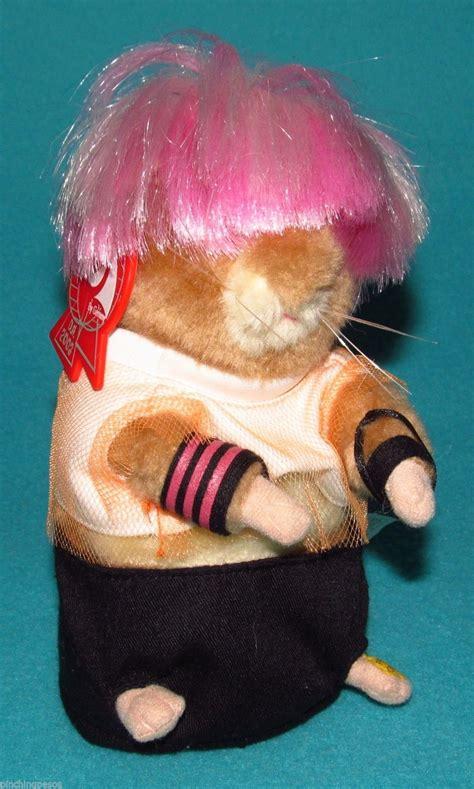 Gemmy Dancing Hamster Pink Hair Singing Plush Punk Rock