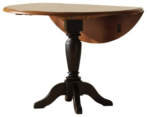 42 Inch Drop Leaf Pedestal Table liberty furniture low country black 42 inch drop