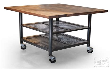 Kitchen Island Metal Crafted Custom Walnut Steel Kitchen Island Metal Kitchen Island Industrial Kitchen